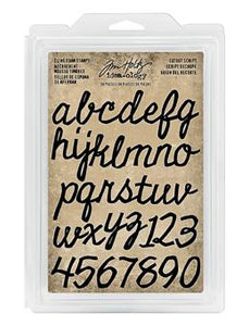 Tim Holtz® Idea-ology FOAM STAMPS, CUTOUT SCRIPT