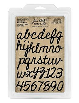 Tim Holtz® Idea-ology FOAM STAMPS, CUTOUT SCRIPT Stamps Tim Holtz Other