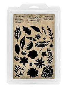 Tim Holtz® Idea-ology FOAM STAMPS, CUTOUT FLORAL Stamps Tim Holtz Other