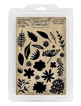 Tim Holtz® Idea-ology FOAM STAMPS, CUTOUT FLORAL