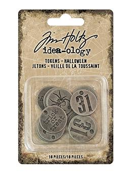 Tim Holtz® Idea-ology Halloween Tokens Findings Tim Holtz Other
