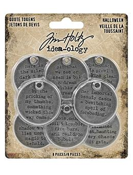 Tim Holtz® Idea-ology Quote Tokens Halloween