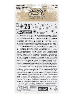 Tim Holtz® Idea-ology Remnant Rubs Christmas Tiny