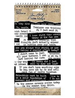 Tim Holtz® Idea-ology Paperie - Big Talk Snarky Idea-ology Tim Holtz Other