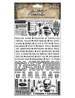 Tim Holtz® Idea-ology Remnant Rubs Halloween Idea-ology Tim Holtz Other