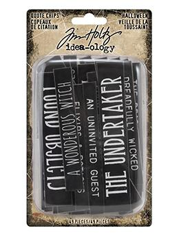 Tim Holtz® Idea-ology Quote Chips Halloween