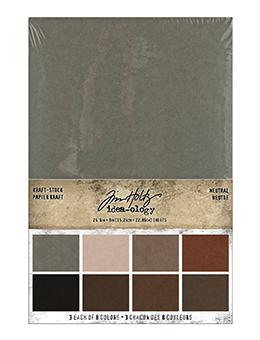 Tim Holtz Idea-ology Kraft-Stock Stack Neutral Idea-ology Tim Holtz Other