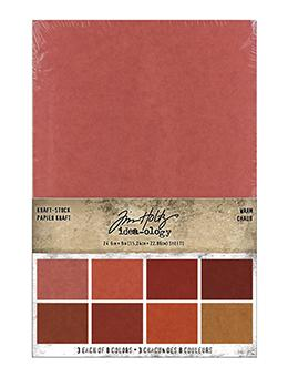 Tim Holtz Idea-ology Kraft-Stock Stack Warm Idea-ology Tim Holtz Other