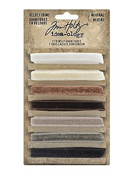 Tim Holtz Idea-ology Velvet Trims Neutral Idea-ology Tim Holtz Other