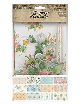 Tim Holtz Idea-ology Label Worn Wallpaper Scraps Idea-ology Tim Holtz Other