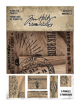 Tim Holtz Idea-ology Label Vignette Advert Panels Idea-ology Tim Holtz Other