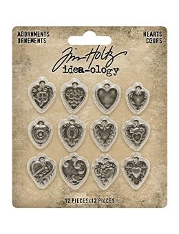Tim Holtz Idea-ology Adornments Hearts Idea-ology Tim Holtz Other