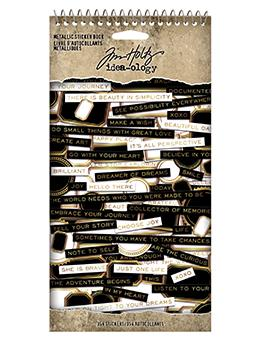 Tim Holtz Idea-ology Metallic Sticker Book Idea-ology Tim Holtz Other