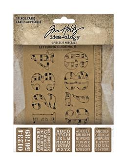 Tim Holtz Idea-ology Stencil Cards Idea-ology Tim Holtz Other