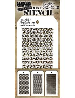 Tim Holtz® Stampers Anonymous - Mini Layering Stencils - Set #27 Stencil Tim Holtz Other