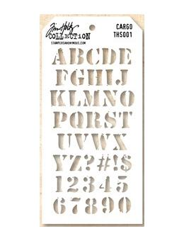 Tim Holtz® Stampers Anonymous - Layering Stencils - Cargo Stencil Tim Holtz Other