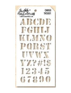 Stampers Anonymous Tim Holtz Cargo Layering Stencil  ths001