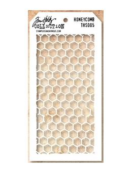 Tim Holtz® Stampers Anonymous - Layering Stencils - Honey Comb Stencil Tim Holtz Other