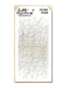 Tim Holtz® Stampers Anonymous - Layering Stencils - Dot Fade Stencil Tim Holtz Other