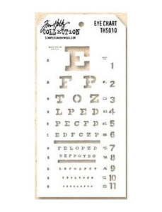 Tim Holtz® Stampers Anonymous - Layering Stencils - Eye Chart Stencil Tim Holtz Other