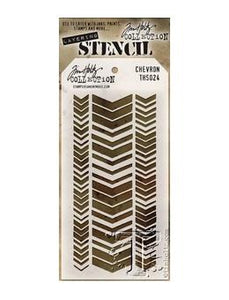 Tim Holtz® Stampers Anonymous - Layering Stencils - Chevron Stencil Tim Holtz Other