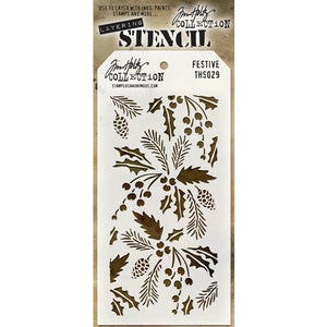 Tim Holtz® Stampers Anonymous - Layering Stencils - Festive Stencil Tim Holtz Other
