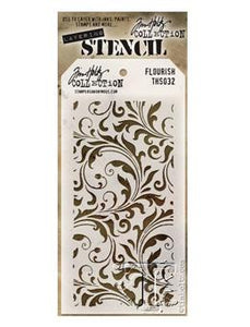 Tim Holtz® Stampers Anonymous - Layering Stencils - Flourish Stencil Tim Holtz Other