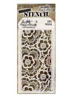 Tim Holtz® Stampers Anonymous - Layering Stencils - Lace Stencil Tim Holtz Other