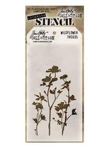 Tim Holtz® Stampers Anonymous - Layering Stencils - Wildflower Stencil Tim Holtz Other