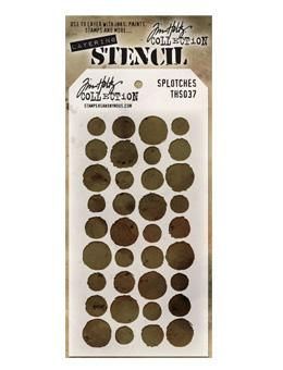 Tim Holtz® Stampers Anonymous - Layering Stencils - Splotches Stencil Tim Holtz Other