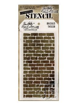 Tim Holtz® Stampers Anonymous - Layering Stencils - Bricked Stencil Tim Holtz Other