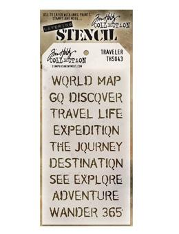 Tim Holtz® Stampers Anonymous - Layering Stencils - Traveler Stencil Tim Holtz Other