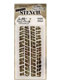 Tim Holtz® Stampers Anonymous - Layering Stencils - Treads Stencil Tim Holtz Other
