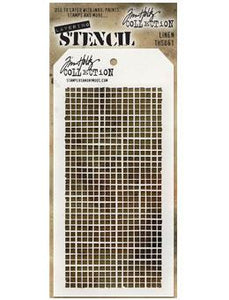 Tim Holtz® Stampers Anonymous - Layering Stencils - Linen Stencil Tim Holtz Other