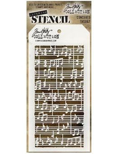 Tim Holtz® Stampers Anonymous - Layering Stencils - Concerto Stencil Tim Holtz Other