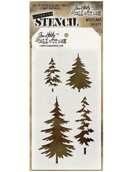 Tim Holtz® Stampers Anonymous - Layering Stencils - Woodland Stencil Tim Holtz Other