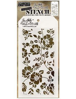 Tim Holtz® Stampers Anonymous - Layering Stencils - Floral Stencil Tim Holtz Other