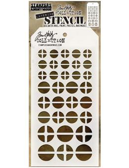 Tim Holtz® Stampers Anonymous - Layering Stencils - Screwed Stencil Tim Holtz Other