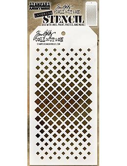 Tim Holtz Stampers Anonymous Layering Stencil Gradient Square Stencil Tim Holtz Other