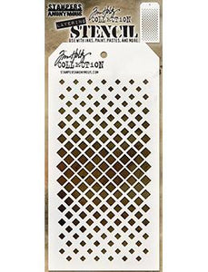 Tim Holtz Stampers Anonymous Layering Stencil Gradient Square