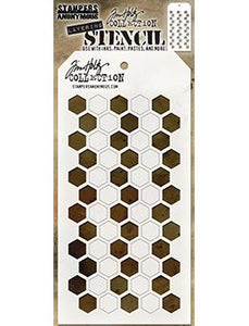 Tim Holtz Stampers Anonymous Layering Stenvil - Shifter Hex Stencil Tim Holtz Other