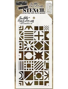 Tim Holtz Stampers Anonymous Layering Stencil - Patchwork Cube