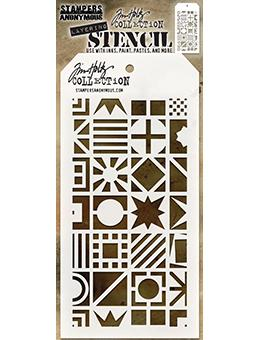 Tim Holtz Stampers Anonymous Layering Stencil - Patchwork Cube Stencil Tim Holtz Other