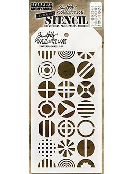 Tim Holtz Stampers Anonymous Layering Stencil - Patchwork Circle Stencil Tim Holtz Other