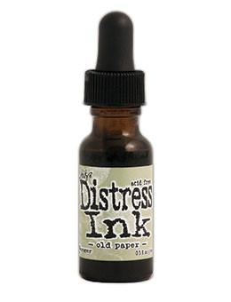 Tim Holtz Distress® Ink Pad Re-Inker Old Paper, 0.5oz Re-Inker Tim Holtz