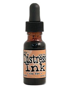 Tim Holtz Distress® Ink Pad Re-Inker Tea Dye, 0.5oz Re-Inker Tim Holtz