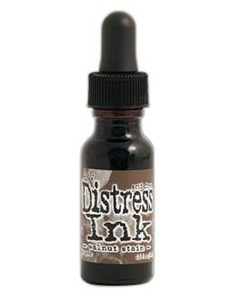 Tim Holtz Distress® Ink Pad Re-Inker Walnut Stain, 0.5oz Re-Inker Tim Holtz