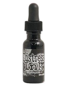 Tim Holtz Distress® Ink Pad Re-Inker Black Soot, 0.5oz Re-Inker Tim Holtz