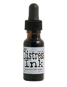 Tim Holtz Distress® Ink Pad Re-Inker Weathered Wood, 0.5oz Re-Inker Tim Holtz