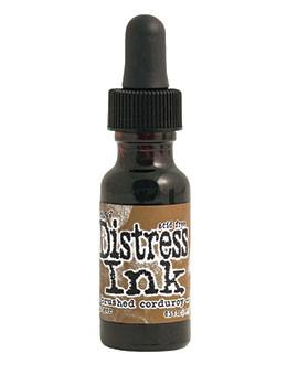 Tim Holtz Distress® Ink Pad Re-Inker Brushed Corduroy, 0.5oz